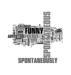 Spontaneously word cloud concept vector