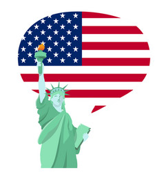 Statue of liberty national monument in america vector