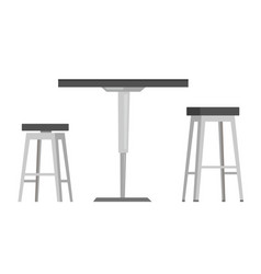 table with bar chairs cartoon vector image vector image