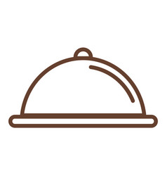 tray server isolated icon vector image
