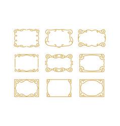 Vintage decorative monoline frame border vector