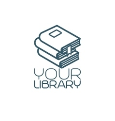Your library isolated icon vector