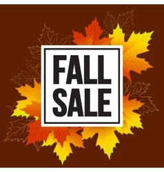 Autumn seasonal banner design fall leaf vector