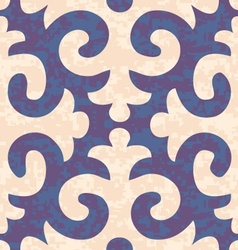 Seamless shyrdak fleur de lis background pattern vector
