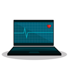 Mobile health technology icon vector