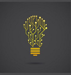 Lamp formed by chip chains vector