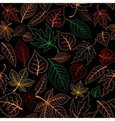 Autumnal leaves seamless background vector