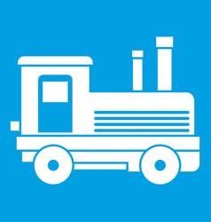 Locomotive icon white vector