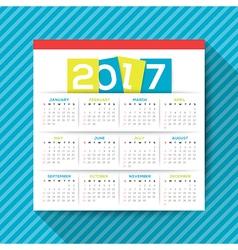 2017 calendar template vector