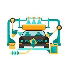 Automatic car wash vector image