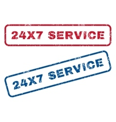 24X7 Service Rubber Stamps vector image