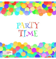 Party Seamless Pattern Confetti vector image