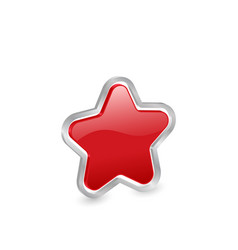 3d red star icon vector image vector image