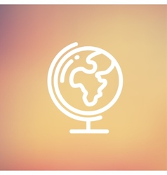 World globe with stand thin line icon vector