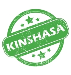 Kinshasa green stamp vector