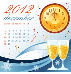 Calendar for 2012 december vector
