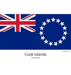National flag of cook islands with correct vector