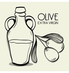 Natural olive oil vector image