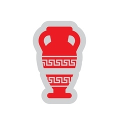 Flat web icon on white background amphora vector