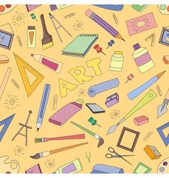 Doodle pattern of art vector