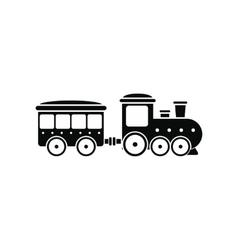 Train in amusement park icon vector image