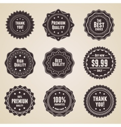 retro premium quality labels vector image