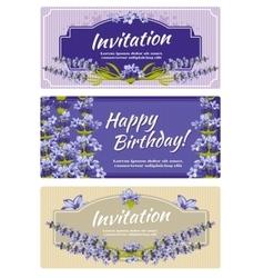 Greeting card wedding invitation template vector image