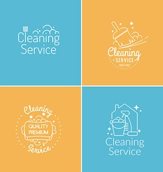 Cleaning service logo set vector