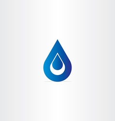 blue logo drop of water icon vector image