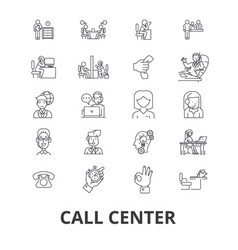 call center customer service agent client help vector image vector image
