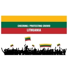 Cheering or Protesting Crowd Lithuania vector image
