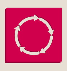 Circular arrows sign grayscale version of vector