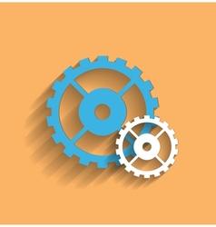 cogwheel flat icon vector image