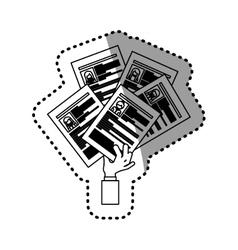 Document of human resources design vector