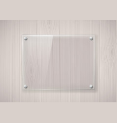 glass frame on a wooden surface vector image