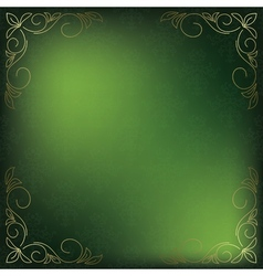 green card with golden decor in the corners vector image