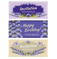 Greeting card wedding invitation template vector image