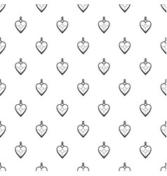 Heart shaped pendant pattern vector