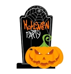 helloween party poster memorial vector image vector image