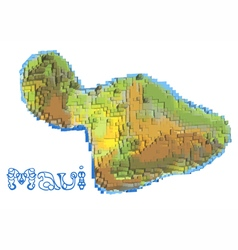 Maui abstract map vector