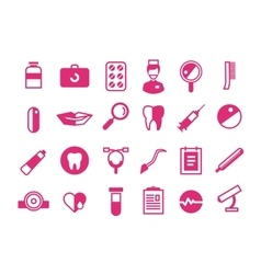 Medicine icons set Doctors tools for vector image vector image