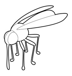 mosquito icon outline style vector image