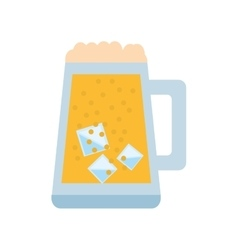 Mug glass beer foam ice drink vector