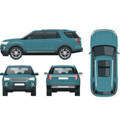 Off-road write car modern vip transport offroad vector
