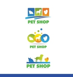 Pet shop logo icon design vector