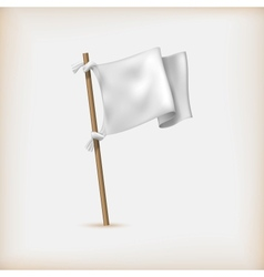 Realistic White Flag Icon Surrender Concept Banner vector image vector image