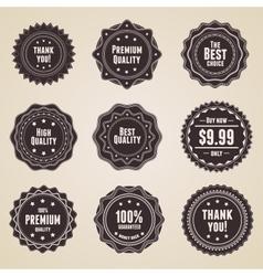 retro premium quality labels vector image vector image