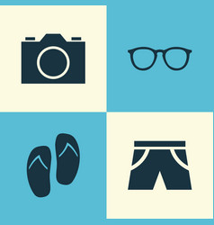 Season icons set collection of forceps goggles vector