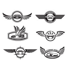 set of car labels vector image vector image
