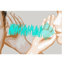 speak and listen vector image